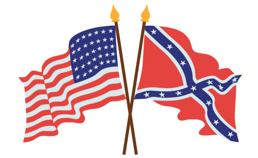 American Union And Confederate Flags, From The Getty Images, Istock Vectors Collection. Artwork By Kathy Konkle.