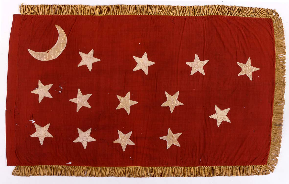 Van Dorn Flag, commonly displayed and carried by Arkansas soldiers (Confederate)