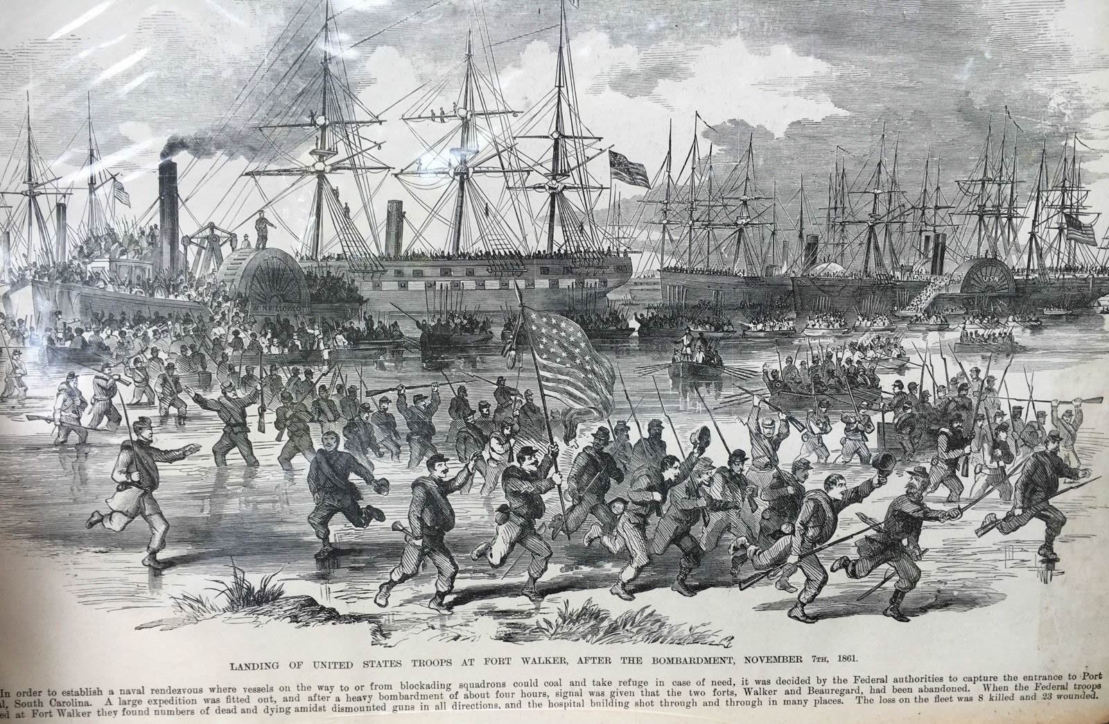 Landing of United States troops at Fort Walker, after the bombardment, November 7th, 1861