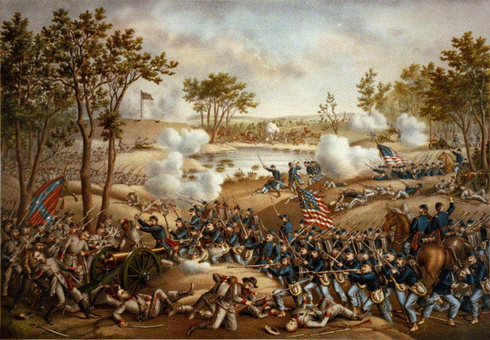 Battle of Cold Harbor by Kurz and Allison, 1888